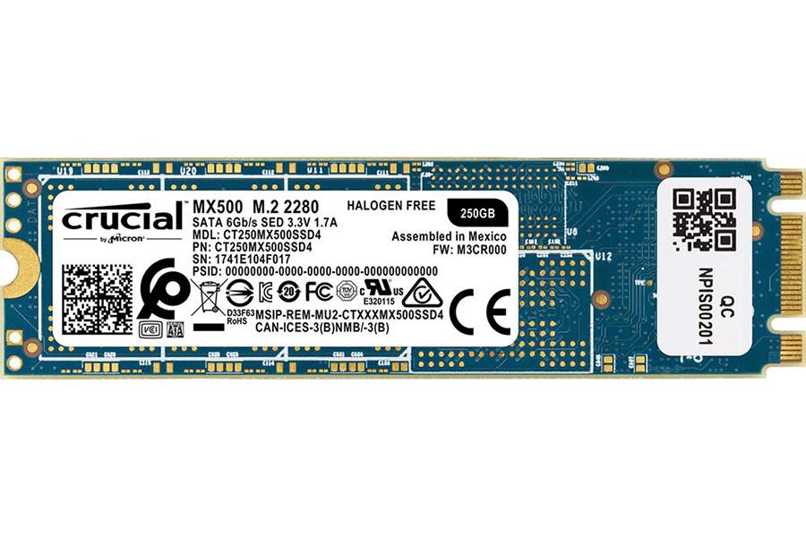 Solid State Drive (SSD) CRUCIAL MX500 250GB M.2 SATA
